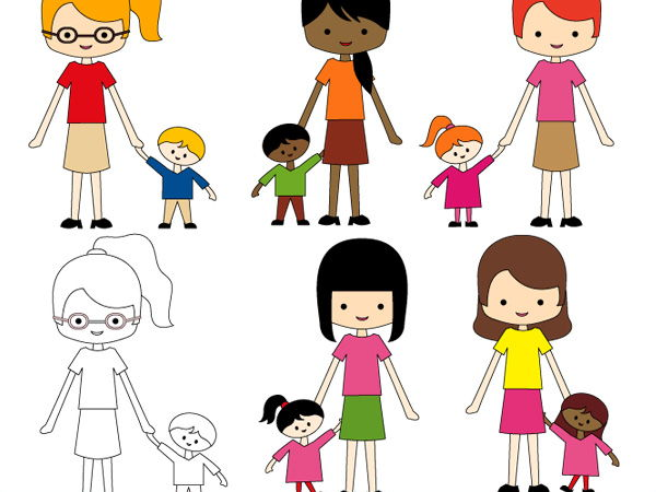 Just me and my mom clip art - Mother's day clipart