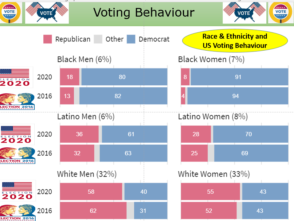 Voting Behaviour in US Elections - Focus on patterns in 2020 as well as theories of Voting Behaviour