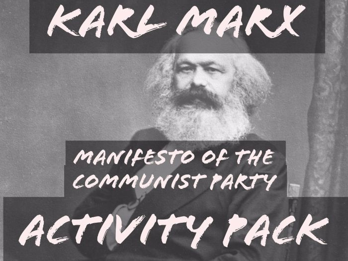 Marx - Communist Manifesto Primary Source Activity Pack