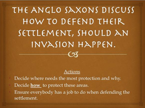 Anglo Saxon Battle Scenario Cards