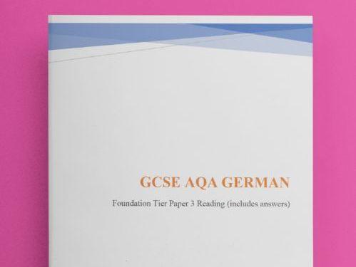 GCSE German Reading Higher Tier (Revision/Practice Test)