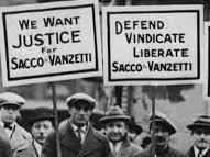 Immigration in USA in 1920s - Sacco and Vanzetti case