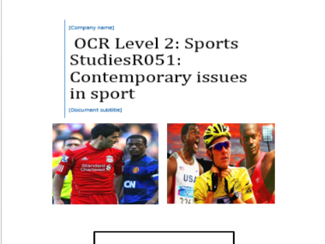 R051 & R052 OCR National Sports Studies  - 100% content, with exam practice, knowledge checks etc.