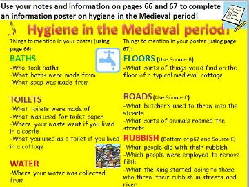 Medeival England - Health and hygiene in Medieval towns and cities