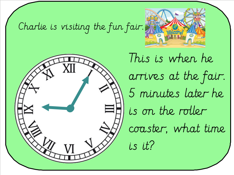 Year 3 Telling The Time And Calcuting Duration Roman Numeral Clock - 3-roman-numerals-clocks
