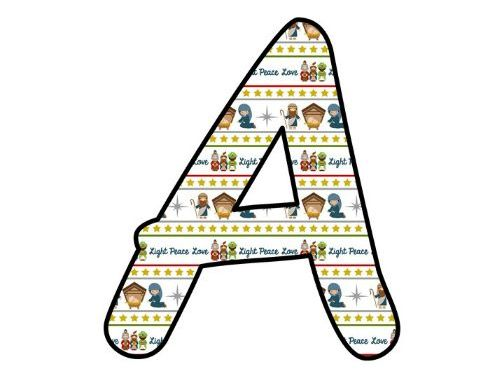 Printable display bulletin letters numbers and more: Christmas Nativity