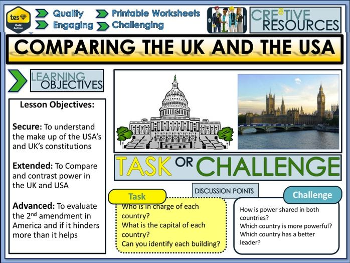 Comparing UK and USA Constitutions