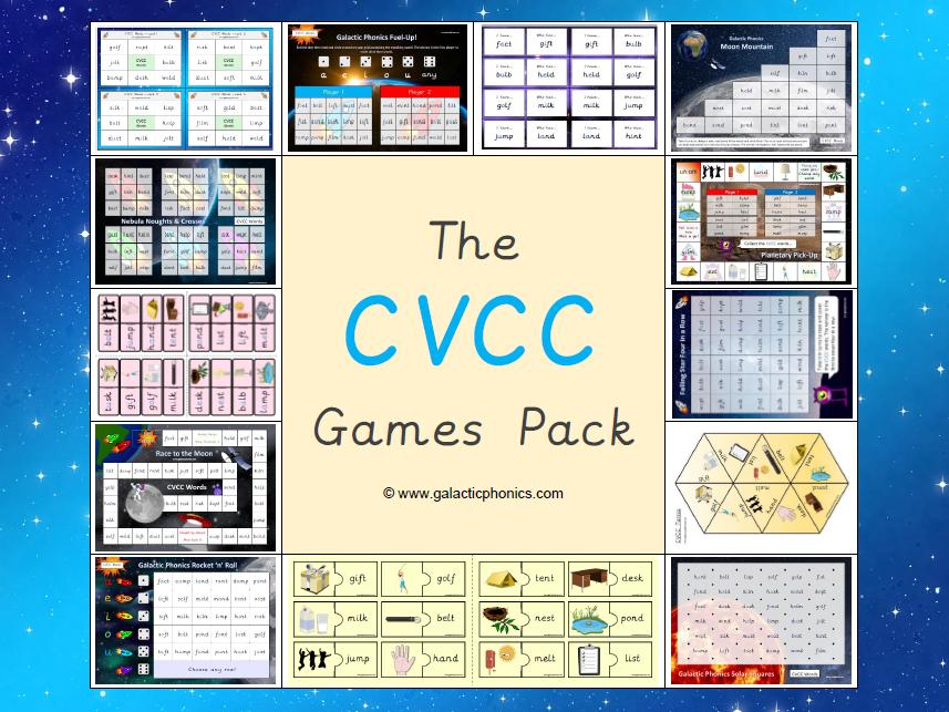 The CVCC Word Phonics Games Pack