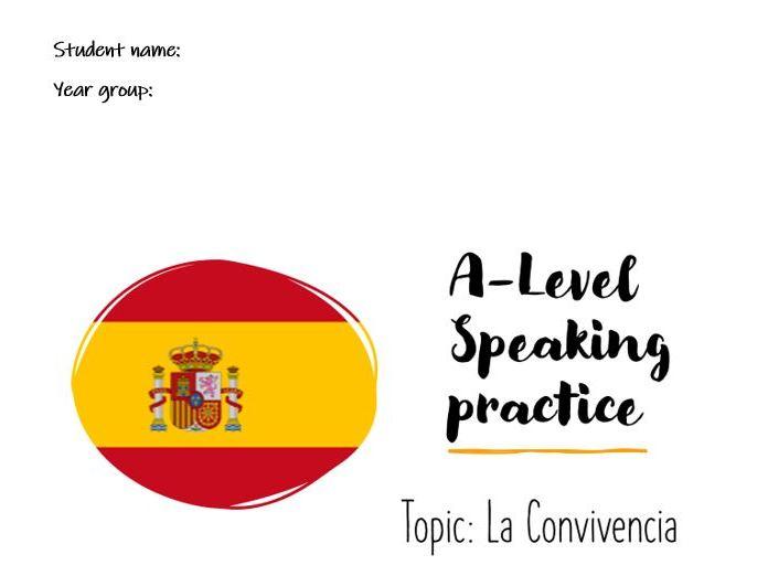 A-Level Speaking Conversational La Convivencia