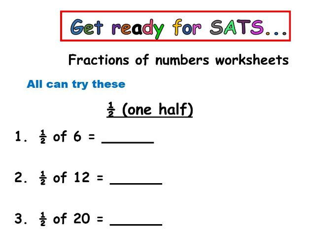 year  sats preparation  finding a half a quarter three quarters  year  sats preparation  finding a half a quarter three quarters and a  third of numbers by iamdeborah  teaching resources  tes