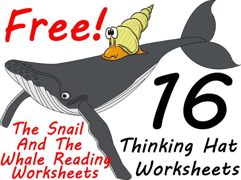 FREE  The Snail And The Whale Workbook - 16 Thinking Hat Worksheets Makes Guided Reading Fun!