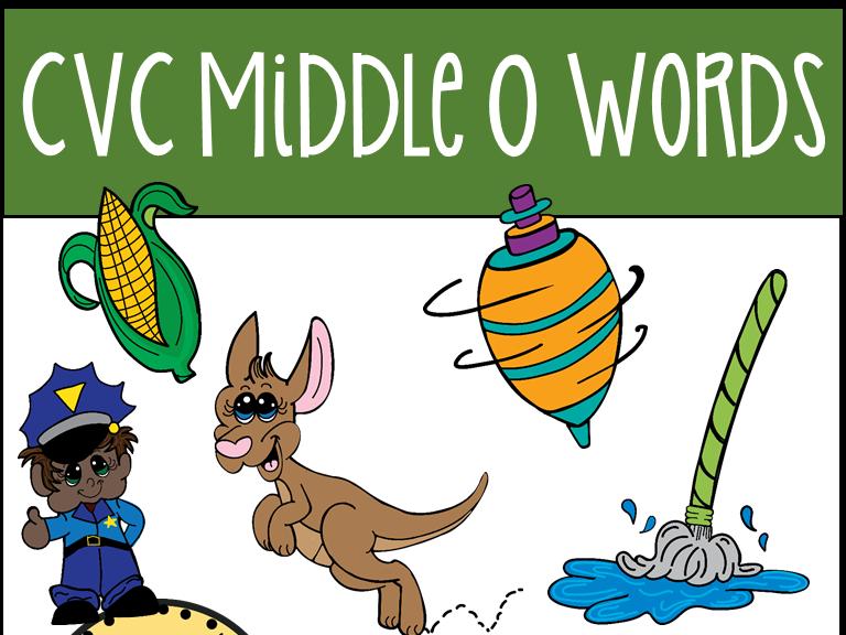 CVC Middle O Words Clip Art