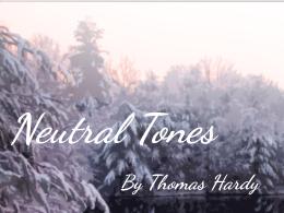 Neutral Tones - by Thomas Hardy (SMILE Analysis points)