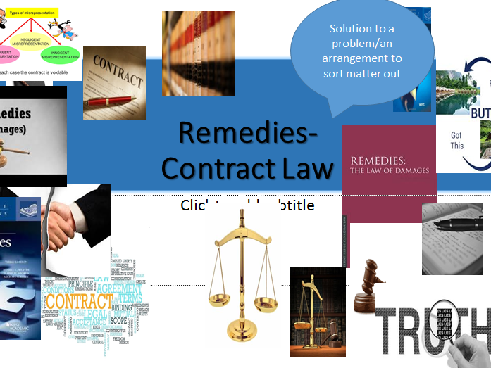 Contract Law-A-level (OCR NEW SPEC)- Remedies in Contract Law- Lesson Power Point