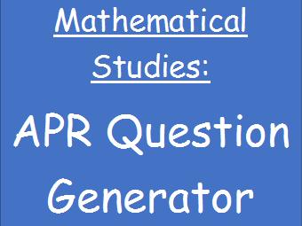 APR question generator (AQA L3)