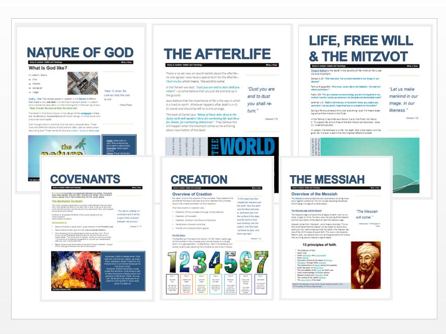 WJEC Eduqas Judaism: Beliefs and Teachings Exam Booklet Bundle