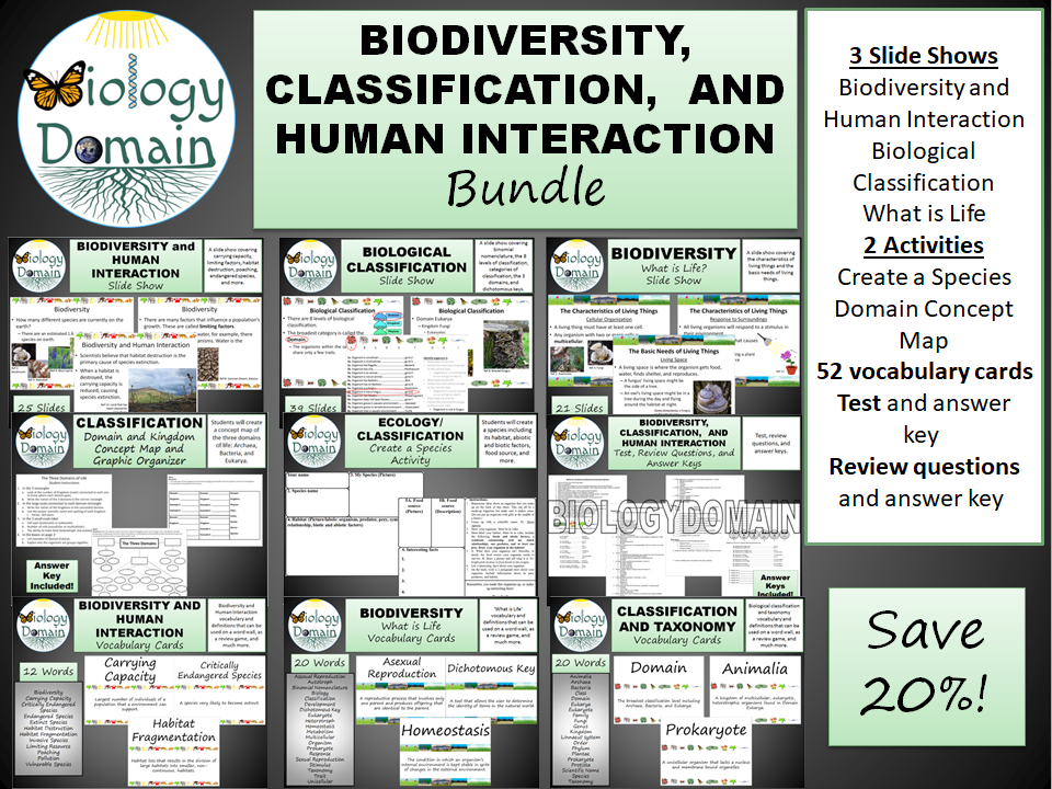 Biodiversity and Classification Bundle