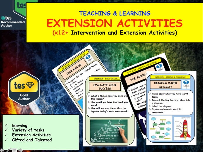 Extension Activities  - Differentiation x12