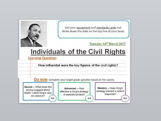 US Civil Rights Movement - Martin Luther King, Parks and Malcolm X (AQA Opportunity and Inequality)