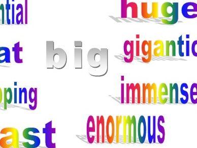 Alternative words for: big, said, get, nice