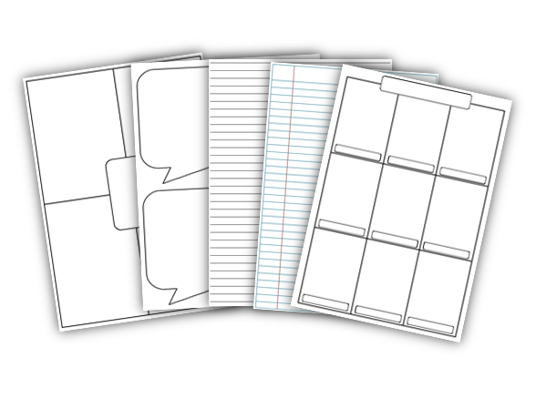 21 blank worksheets, templates, lined paper