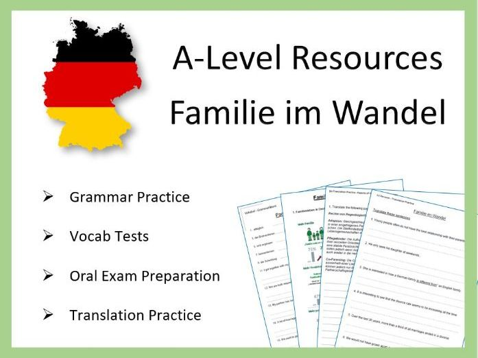 AS German - Familie im Wandel - Practice and Revision Worksheets