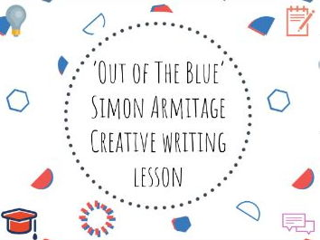 'Out of the Blue' by Simon Armitage- creative writing lesson based on 9/11 attacks #conflictpoetry