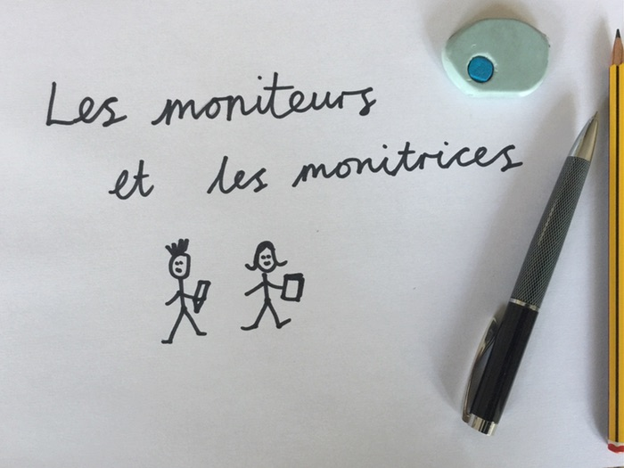 French Classroom Monitors List / Les moniteurs et les monitrices