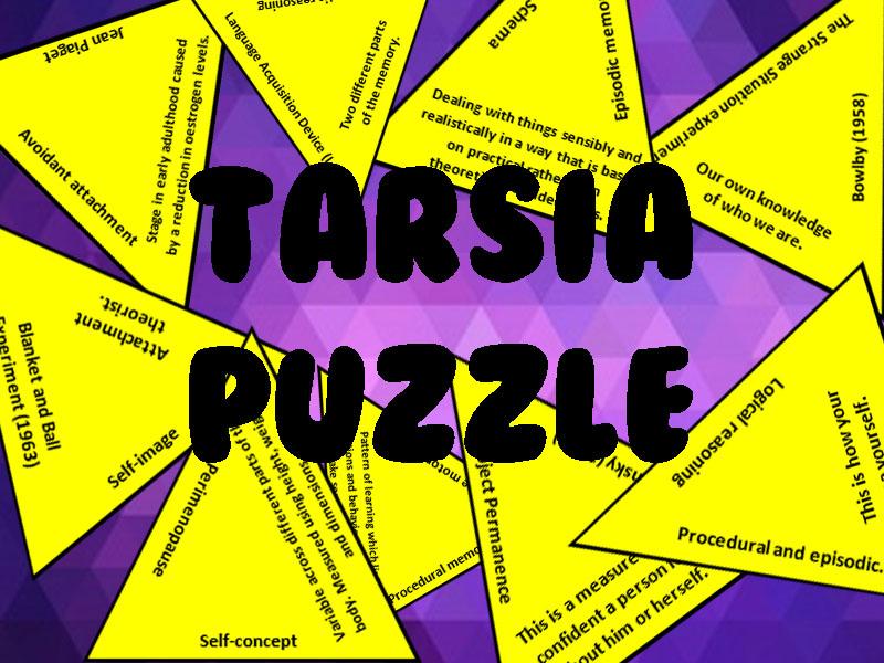 TARSIA PUZZLE for Human Lifespan Development (Learning aim A)