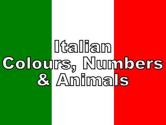 ITALIAN - Colour, Numbers & Animals BUNDLE - Worksheets
