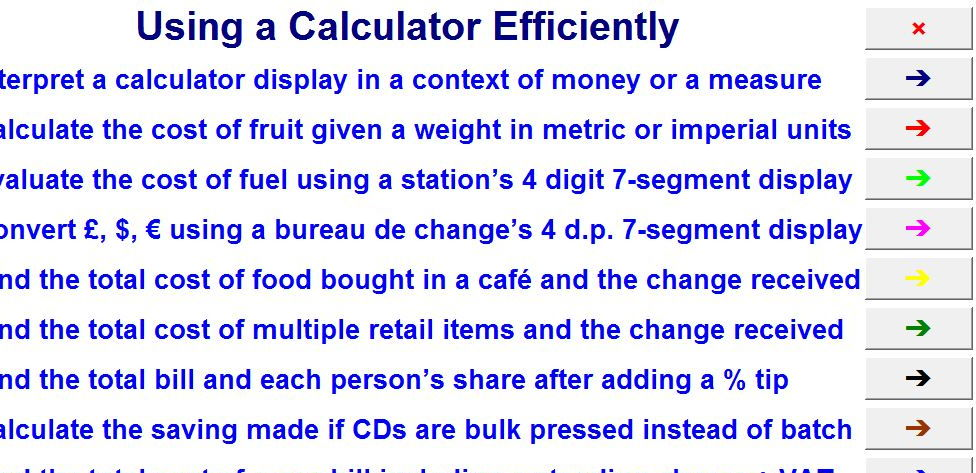 Using a Calculator Efficiently
