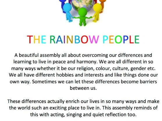 KS2 CLASS FRIENDSHIP ASSEMBLY - THE RAINBOW PEOPLE (Celebrate differences and live in harmony)