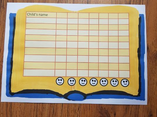 Home Reading chart