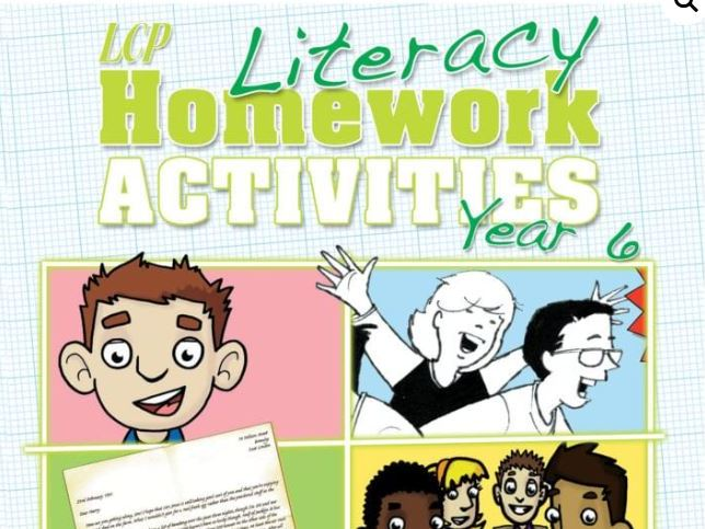 Year 6 English/Literacy Home Learning Pack (46 sheets) including Parental Guidance