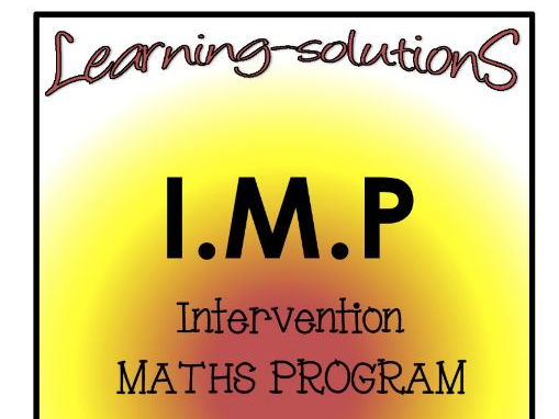 INTERVENTION MATHS PROGRAM - IMP Year 2 - Aust - ACARA aligned - free SAMPLE