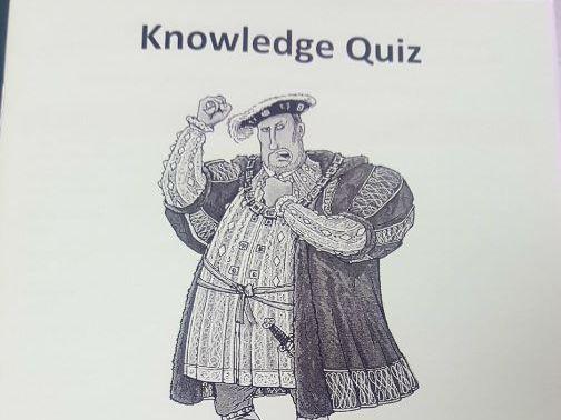 Henry VIII quiz booklet (Edexcel GCSE 1-9)