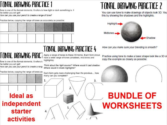 KS3 Tonal Practice Starter Worksheets - BUNDLE