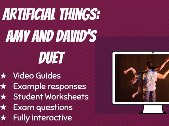 GCSE Dance Artificial Things Video Guide David and Amy's Duet: Aural Setting