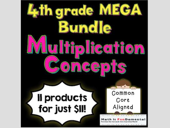 4th Grade Multiplication Concepts Mega Bundle