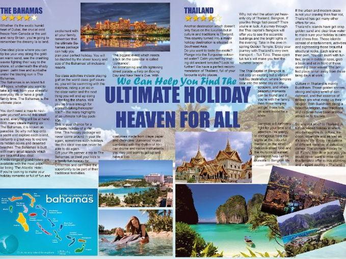 Travel Brochure: Writing an advert. Persuasive Writing. 1-9 GCSE Language.