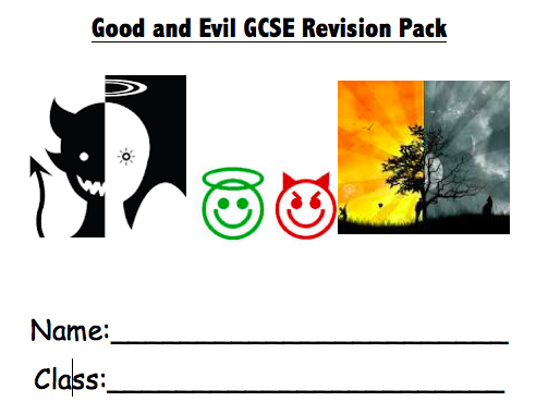 Good and Evil Work-Booklet for New Spec EDUQAS GCSE