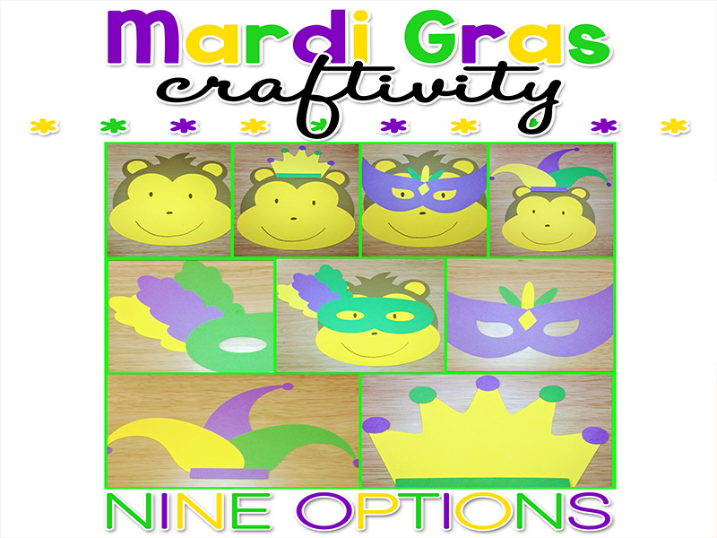 Mardi Gras Paper Craft Craftivity
