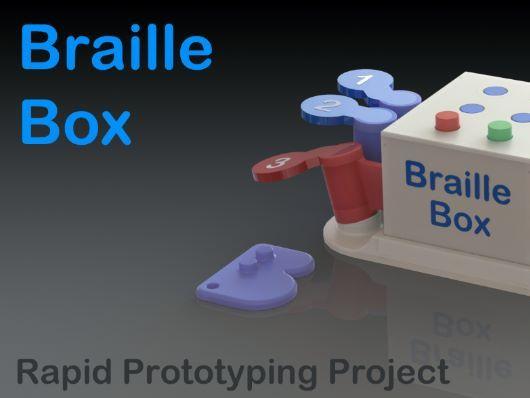 Braille Box 3D model for the D&T GCSE exemplar folder