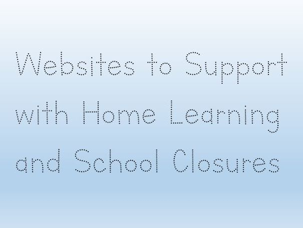 Websites and Apps to Support with Home Learning