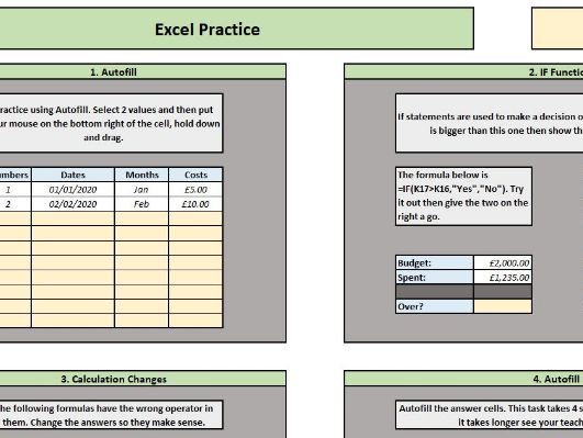 Excel (ECDL and General Use)