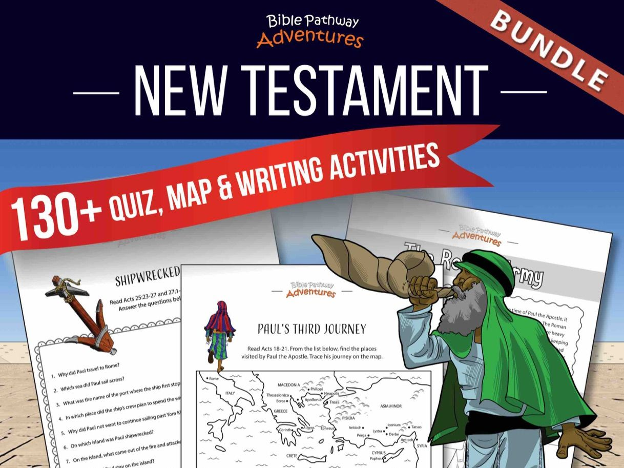 130+ New Testament Quizzes & Activities: Activity Book Bundle