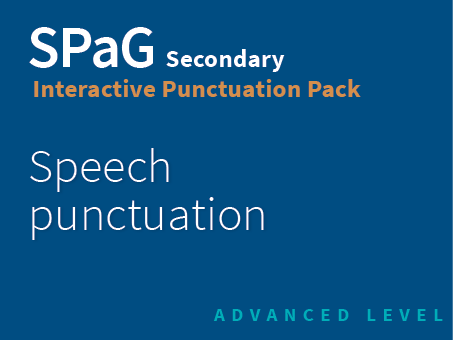 SPaG Secondary Interactive Punctuation Pack - Speech puncutation (Advanced Level)