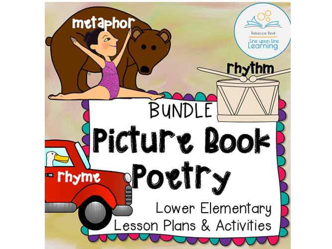 Metaphor, Rhyme, Rhythm Poetry Lessons BUNDLE (based on Picture Books)