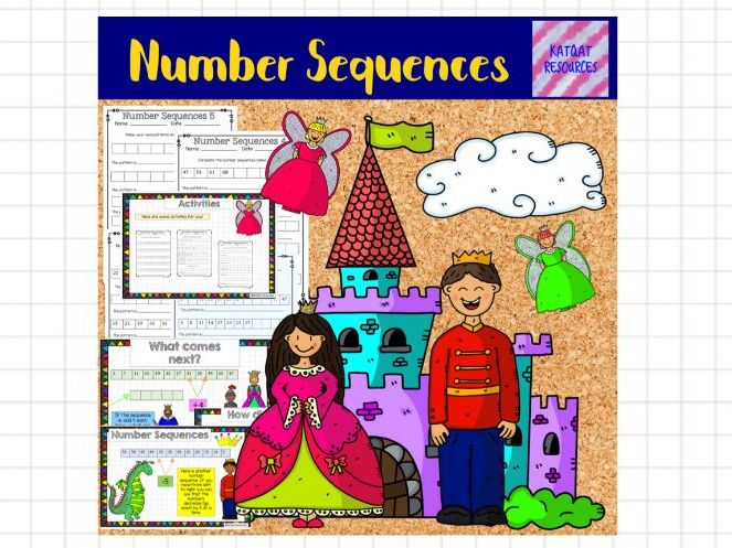Number sequences no prep whole lesson