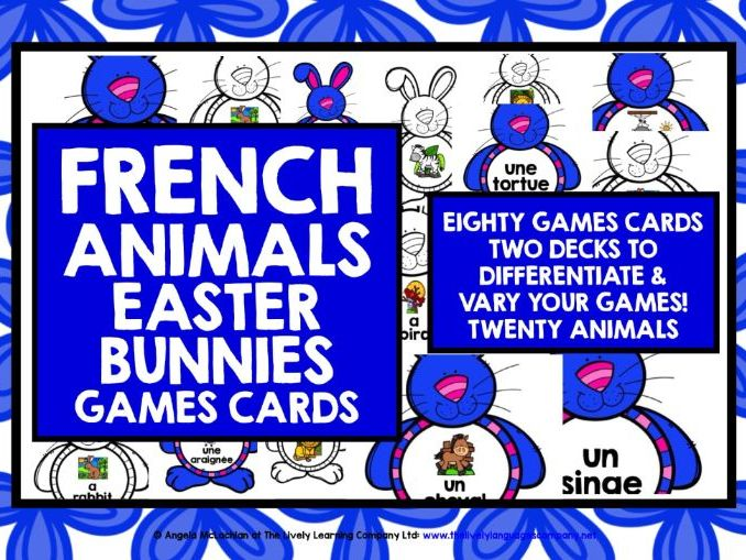 FRENCH EASTER GAME CARDS ANIMALS